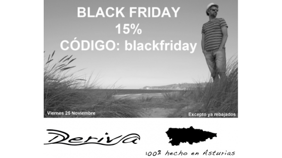 DERIVA CREACIONES Black Friday 15% Código: blackfriday
