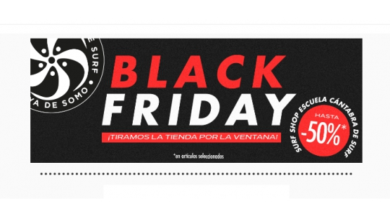 BLACK FRIDAY en la Escuela Cántabra de Surf
